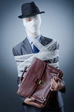 Man covered in medical bandages Royalty Free Stock Photography