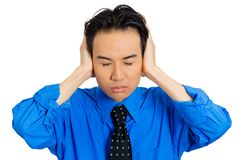Man covering ears Royalty Free Stock Images