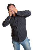 Man Covering Eyes Stock Images