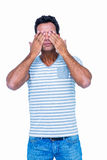 Man covering his eyes Royalty Free Stock Photo
