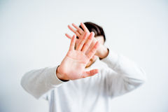 Man covering his face Royalty Free Stock Photos
