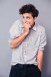 Man covering his mouth Royalty Free Stock Photo