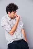 Man covering his nose Royalty Free Stock Photo