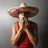 Man covering mouth. Royalty Free Stock Photos