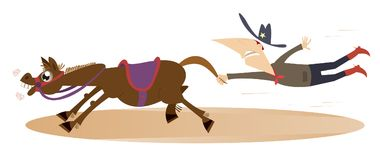 Cartoon rodeo illustration Stock Photo