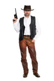 Man cowboy with gun Royalty Free Stock Image