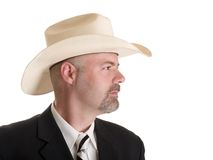 Man with cowboy hat Royalty Free Stock Photography