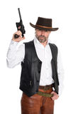 Man in a cowboy hat Stock Photography