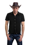 Man in a cowboy hat Royalty Free Stock Images