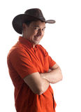 Man in a cowboy hat Royalty Free Stock Photography
