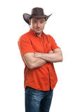 Man in a cowboy hat Royalty Free Stock Photos