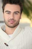 Man in a cream jumper. Young man in a cream jumper Stock Photos