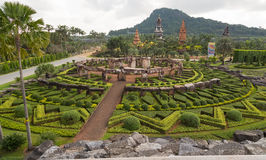 Man created landscape in park Nong Nooch (Pattaya, Thailand) Royalty Free Stock Image