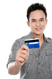 Man with credit card Stock Photo