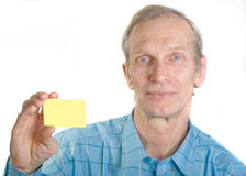 Man with credit card Royalty Free Stock Photos