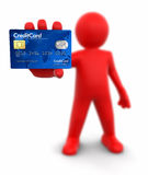 Man with Credit Card (clipping path included) Royalty Free Stock Photos
