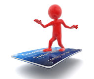 Man with Credit Card (clipping path included) Royalty Free Stock Image