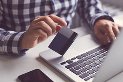 Man with credit card Royalty Free Stock Photo