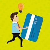 Man credit card idea. Illustration eps 10 Royalty Free Stock Photo