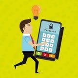 Man credit card idea. Illustration eps 10 Stock Images