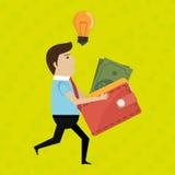 Man credit card idea. Illustration eps 10 Stock Photo
