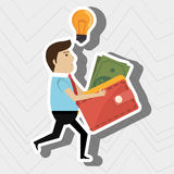 Man credit card idea. Illustration eps 10 Royalty Free Stock Images
