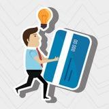 Man credit card idea. Illustration eps 10 Royalty Free Stock Photos