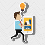 Man credit card idea. Illustration eps 10 Royalty Free Stock Photography