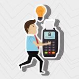 Man credit card idea. Illustration eps 10 Royalty Free Stock Image