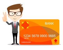 Man with credit card for use in advertising Stock Photography