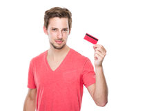 Man with credit card stock photos