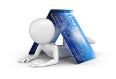 Man with Credit Cards (clipping path included) Royalty Free Stock Photography
