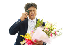 Man cried happily Stock Photo