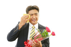 Man cried for joy Royalty Free Stock Image
