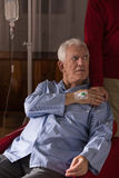 Man with critical disease Stock Photos