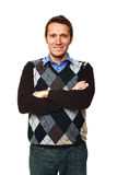 Man crossed arms Royalty Free Stock Photography