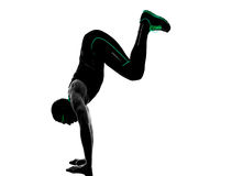 Man crossfit exercises fitness silhouette royalty free stock images