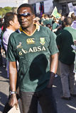 Man in crowd for farewell to Boks Stock Photography