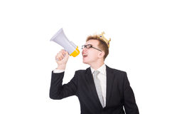 Man with crown Stock Images