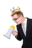 Man with crown Stock Photography
