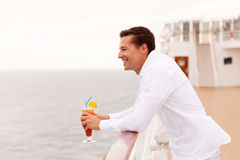 Man cruise enjoying Royalty Free Stock Photography