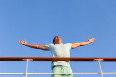 Man cruise ship Royalty Free Stock Photo