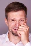 Man crying Stock Photos