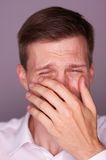 Man crying Royalty Free Stock Photo
