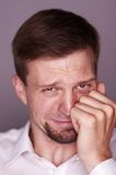 Man crying Stock Photography