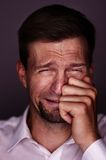 Man crying Stock Photo