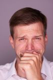 Man crying Stock Image