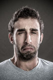 Man crying Royalty Free Stock Photos