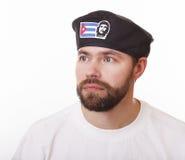 Man in the Cuban beret Stock Image
