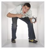 Man in the cube Stock Photos